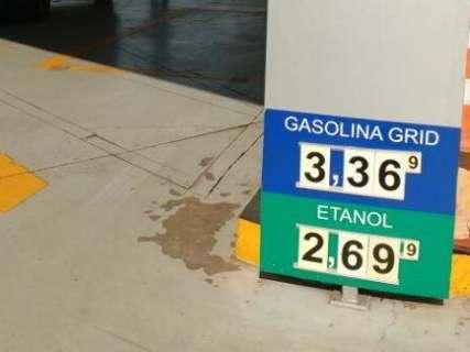Litro da gasolina é vendido a R$ 3,36, mas preço deve cair mais em junho