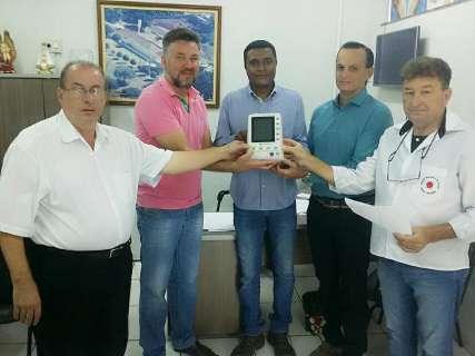 Hospital recebe doação de equipamento cardíaco em Rio Brilhante