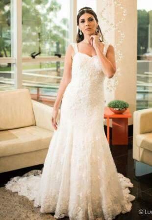 Vestido à venda por R$ 700,00. (Foto: Lucas Matheus)