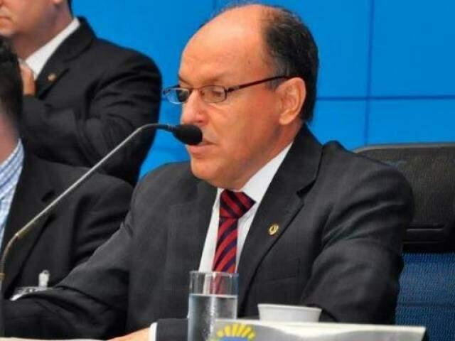 Presidente da ALMS, deputado Junior Mochi (MDB).(Foto: Luciana Nassar/ALMS).