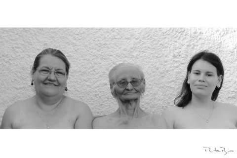 Neta e avó de 94 anos são cumplicidade comovente em fotos da vida em família