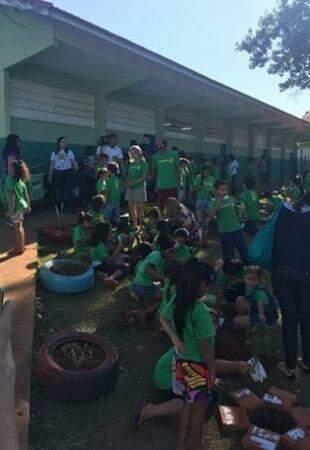 Despertou nos alunos e funcionários o desejo de preservar o meio ambiente. (Foto: Divulgação)