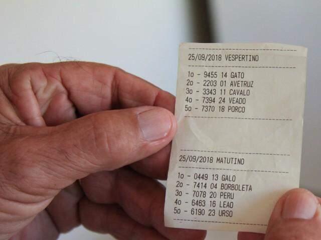 Comprovante de aposta feita pelo celular (Foto: Marina Pacheco)