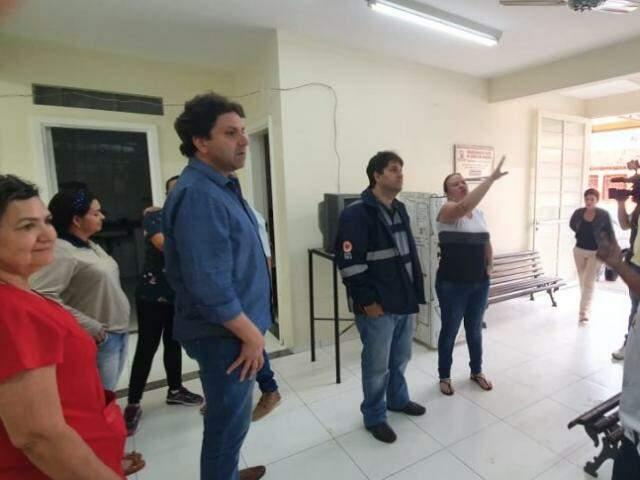 Titular da Sesau, José Mauro Filho durante vistoria na UBSF da Cohab (Foto: Divulgação)