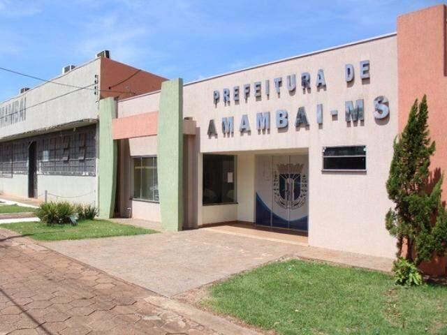 Prefeitura de Amambai foi intimada a não realizar licitação. (Foto: Robson Fritzen/PMA/Arquivo)