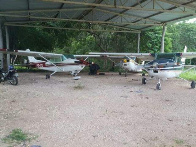 """Aeronaves eram utilizadas no tráfico de cocaína: esquema desarticulado na operação """"All In"""". (Foto: Divulgação/PF)"""