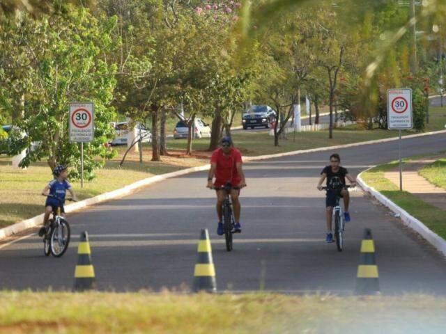 Parque dos Poderes, em Campo Grande. (Foto: André Bittar/Arquivo).
