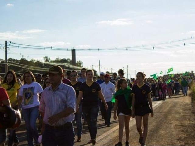 Manifestação em Maracaju reuniu cerca de 5 mil pessoas. (Foto: Maracaju Hoje)