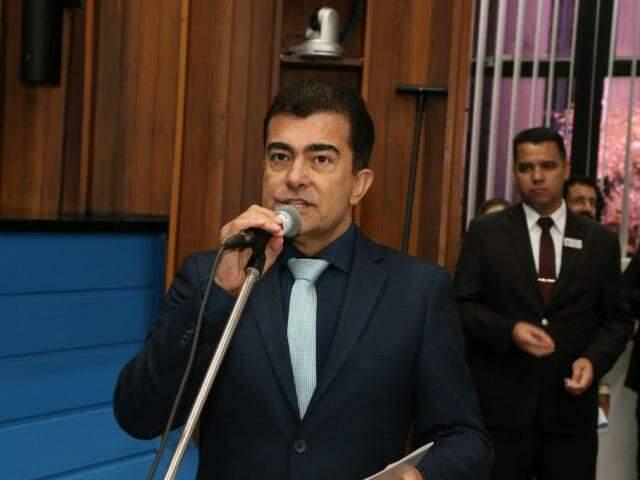 Deputado Marçal Filho, vice-líder do PSDB, na Assembleia (Foto: Assessoria/ALMS)
