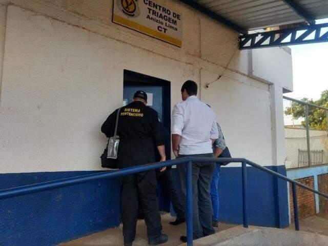 Centro de Triagem Anísio Lima, onde Puccinelli e filho estão presos (Foto: Liniker Ribeiro/Arquivo)