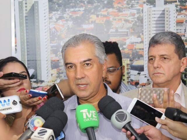 Governador Reinaldo Azambuja (PSDB) participa de evento sobre esporte e lazer (Foto: Paulo Francis)