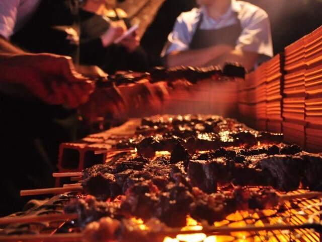 Churrasquinho de carne do Japão.