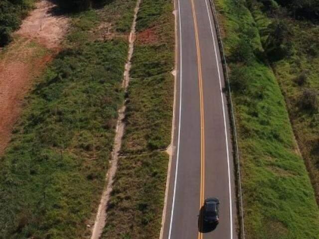 Estrada do Curê recebeu investimentos em pavimentação e recapeamento. (Foto: Subcom/Segov-MS)