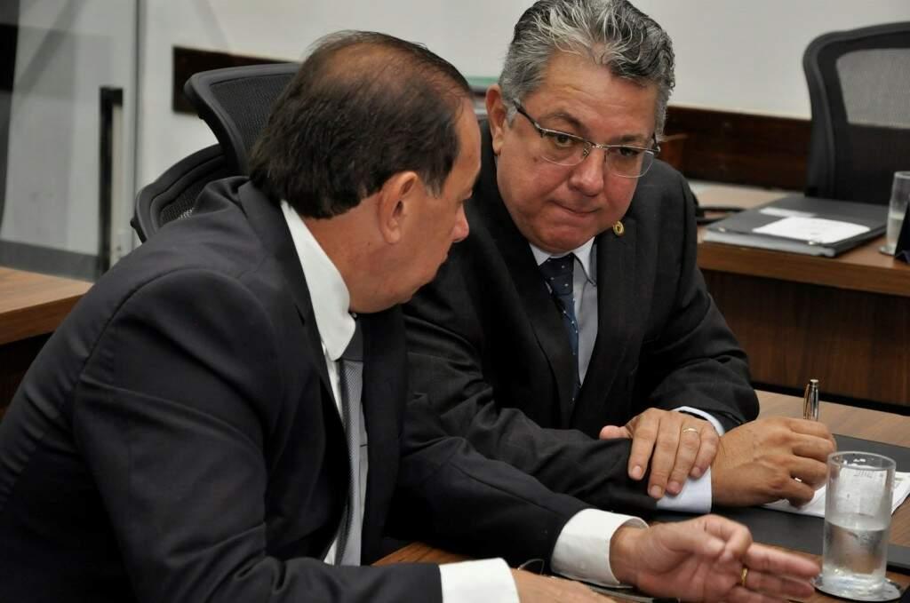 Deputados estaduais do PP, Gerson Claro e Evander Vendramini (Foto: Assessoria/ALMS)