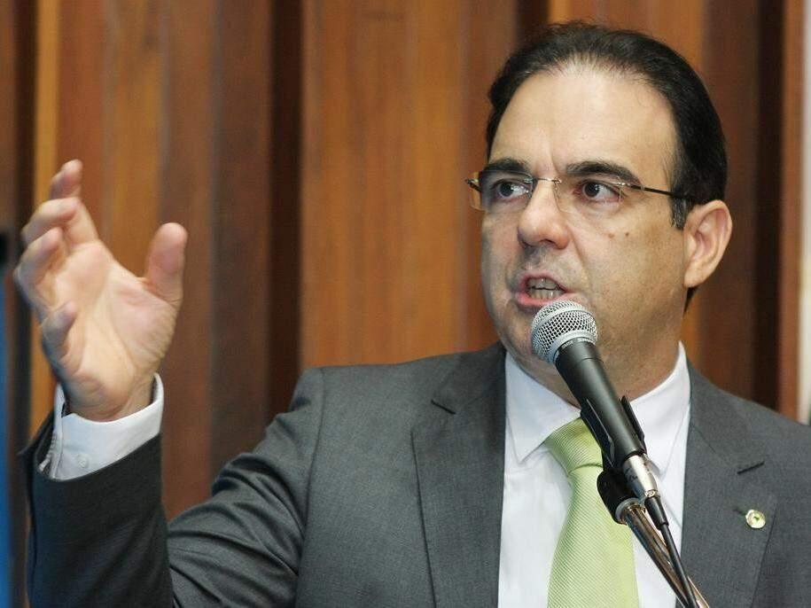 Deputado estadual Felipe Orro (PSDB) durante sessão na Assembleia (Foto: ALMS/Divulgação)