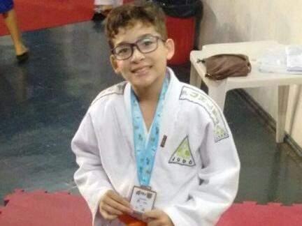 Matheus Siqueira Sarat, de 11 anos, terminou a competição com o bronze (Foto: Arquivo pessoal)