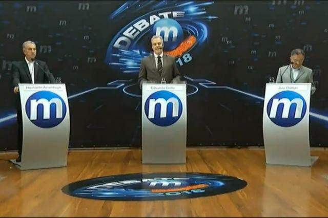 Debate foi realizado na noite desta segunda-feira. (Foto: Reprodução)