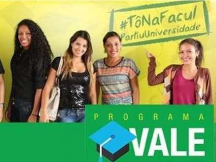 Começam nesta segunda-feira Inscrições do Vale Universidade
