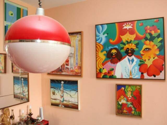 Casa de Glorinha Sá Rosa, cheia de recordações de design e da arte brasileira. (Foto: Marcos Ermínio)
