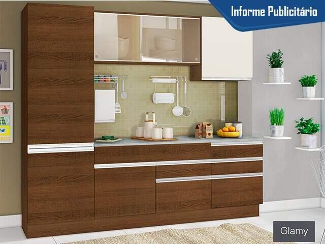 Cozinha Compacta Madesa Glamy Plus com Balcão - 6 Portas 5 Gavetas de: R$ 1.699,00 por apenas R$ 1.299,00, oferta válida dia 19.01.17 (Foto: Divulgação)