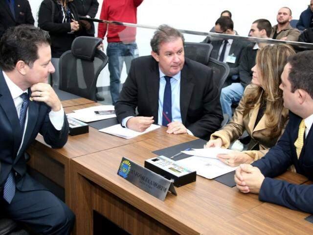 Deputados Renato Câmara, Eduardo Rocha, Antonieta Amorim e Márcio Fernandes (Foto: Victor Chileno/ALMS)