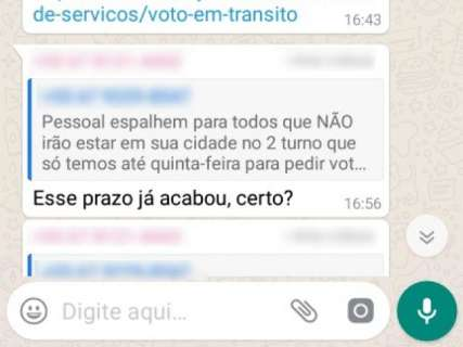 É fake! Eleitores não poderão solicitar voto em trânsito para o 2º turno