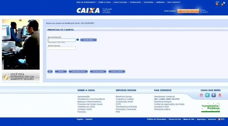 Para consultar extrato do FGTS basta acessar o site da Caixa. (Foto: Reprodução)