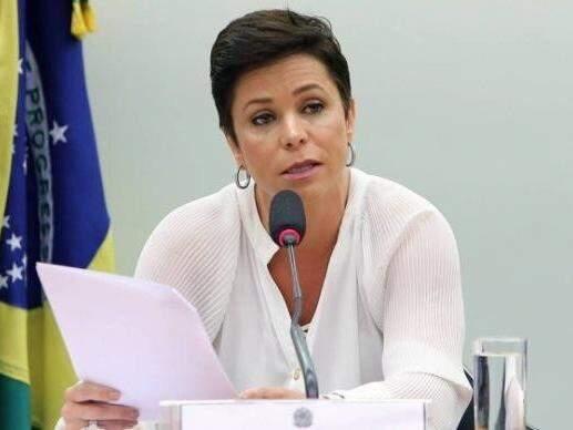 Cristiane Brasil durante sessão da Câmara dos Deputados (Foto: Gilmar Felix/ Câmara dos Deputados)