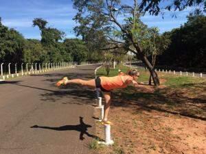 Os exercícios físicos viraram rotina e agora profissão.