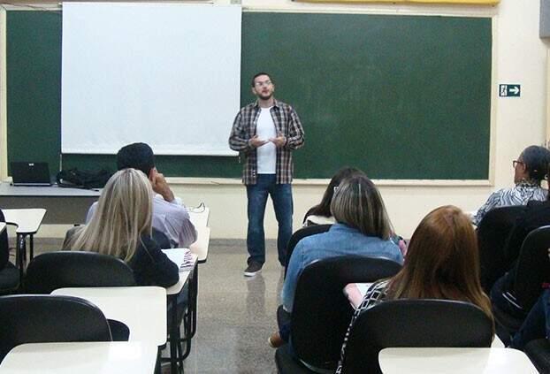 Juiz durante aula em pós-graduação no interior de São Paulo.