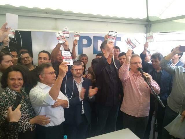 Por aclamação, partido aprovou continuidade das conversas com outras agremiações. (Foto: Humberto Marques)