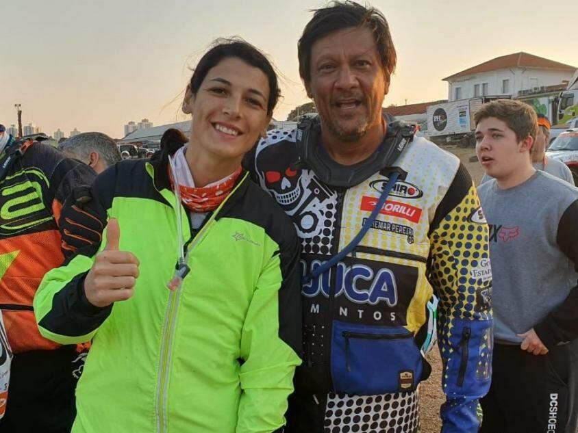 Janaína e Chico, colegas de competição (Foto: Clayton Neves)