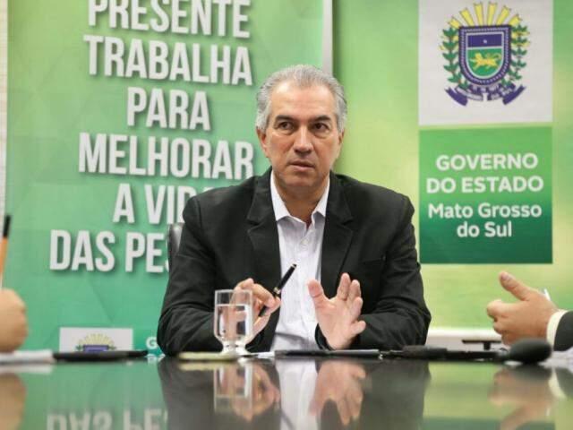 Governador do Estado, Reinaldo Azambuja, PSDB. (Foto: Marcos Ermínio).