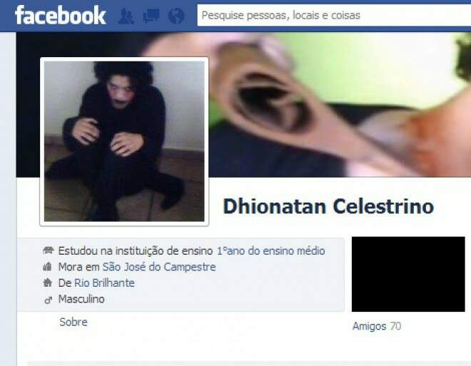 Página com o nome e foto do Maníco no Facebook. (Foto: Divulgação)