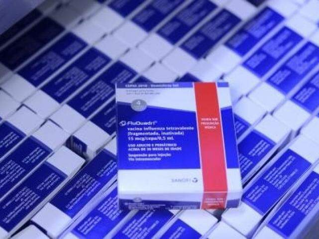 Embalagem da vacina contra a gripe. (Foto: Divulgação)