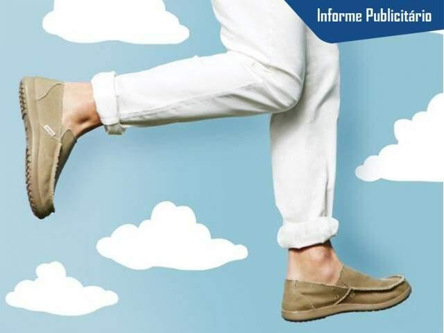 Sapato masculino, o Santa Cruz tem revestimento de lona.