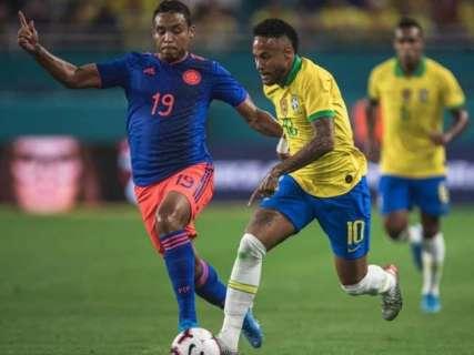 Amistoso entre Brasil e Colômbia termina empatado em 2 a 2