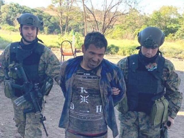 Narcotraficante foi preso hoje em fazenda a 7 km de Coronel Sapucaia (Foto: Divulgação)