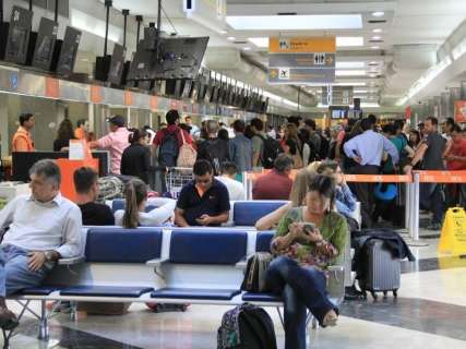Movimento de passageiros aumenta 19,37% no aeroporto da Capital