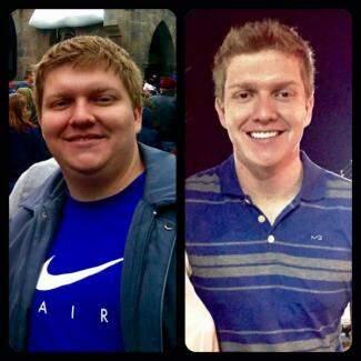 """""""Antes"""" e """"depois"""" mostram que além de perder peso, dentista também mudou o visual radicalmente. (Foto: Arquivo Pessoal)"""