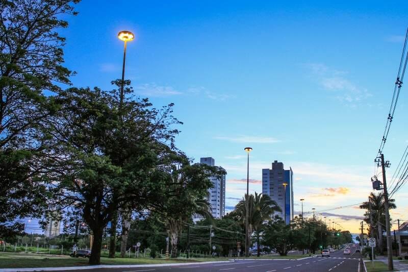 Terça-feira (1) começa com tempo claro, mas há possibilidades de chuvas na Capital. (Foto: Marina Pacheco)