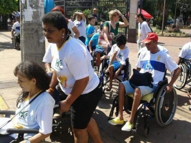 Evento no dia nacional de luta da pessoa com deficiência (Foto: Arquivo)