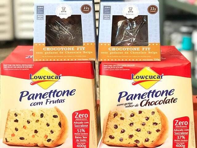 Chocotones e panetones fit, zero açúcar.(Foto:Divulgação)