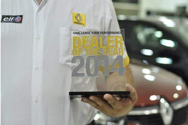 Troféu Dealer of the Year 2014 dedicado às concessionários Renault que tiveram as melhores performances do ano (Foto: Divulgação)
