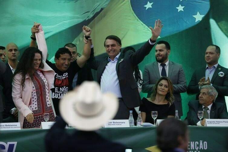PSL lança candidatura de Jair Bolsonaro à Presidência da República (Foto: Fernando Frazão/Agência Brasil)