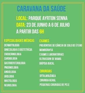 Caravana da Saúde abre neste sábado atendimentos no Parque Ayrton Senna