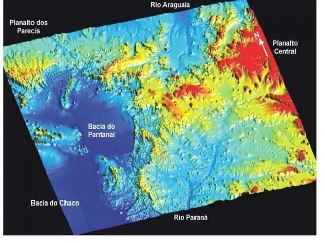 Formação do Pantanal, assim como da cordillheira dos Andes, é ligada ao choque de placas tectônicas (Reprodução: Luis Assine/Unesp)