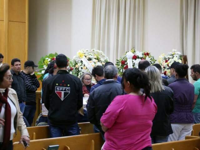 Despedida na Capital envolveu familiares, colegas de igreja e de trabalho. (Foto: Paulo Francis)