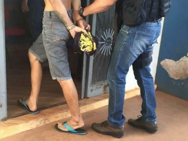 Suspeito foi preso em Poconé (MT), mas a polícia não permitiu fotos que o identifique (Foto: Site Poconet)