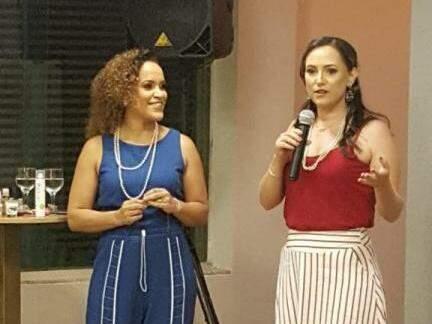 Carla Mileia, fundadora da franquia e Adelita Pereira, responsável pela Toda sexy de MS (Foto: Arquivo Pessoal)